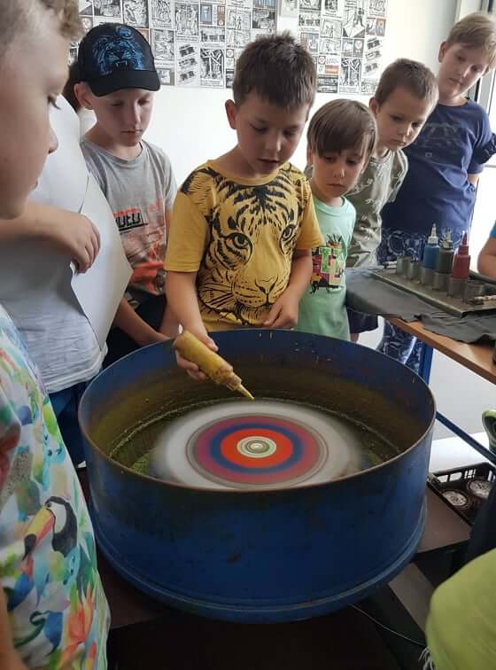 Festés centrifugával